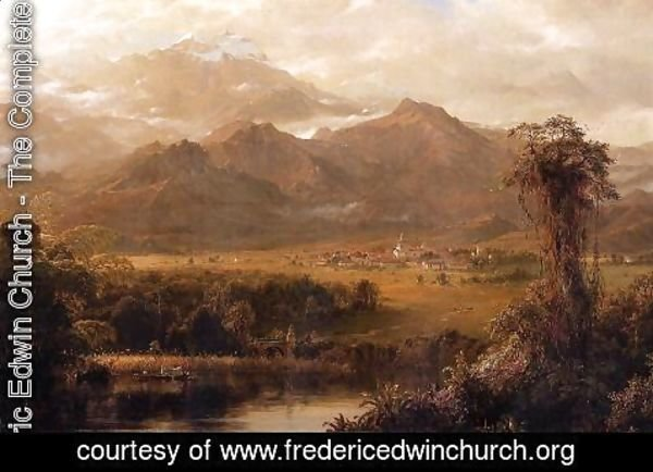Frederic Edwin Church - Mountains of Ecuador (or A Tropical Morning)