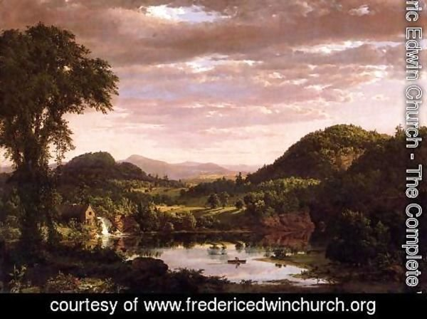 Frederic Edwin Church - New England Landscape (or Evening after a Storm)