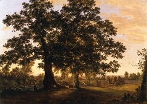 Frederic Edwin Church - The Charter Oak at Hartford, c.1846