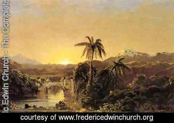 Frederic Edwin Church - Sunset in Equador