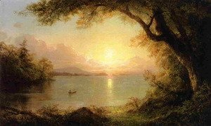 Frederic Edwin Church - Lake Scene