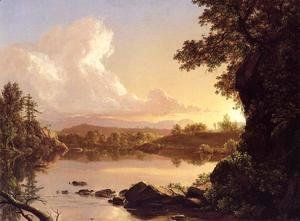 Frederic Edwin Church - Scene on the Catskill Creek, New York