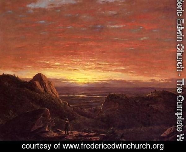 Frederic Edwin Church - Morning, Looking East over the Husdon Valley from Catskill Mountains