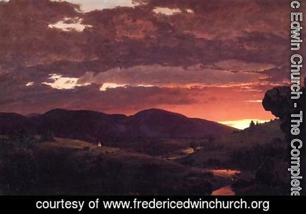 Frederic Edwin Church - Twilight, 'Short arbiter 'twixt day and night'