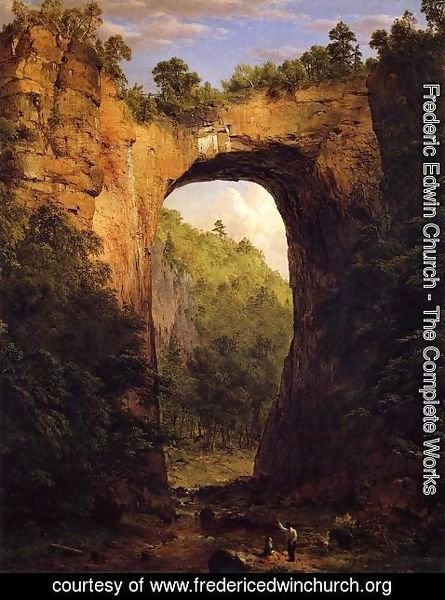 Frederic Edwin Church - The Natural Bridge, Virginia