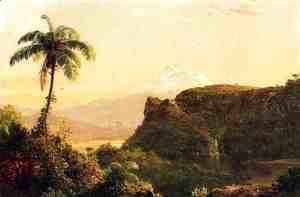 Frederic Edwin Church - Tropical Landscape I
