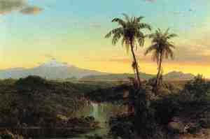Frederic Edwin Church - South American Landscape II