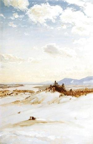 Frederic Edwin Church - Winter Scene, Olana
