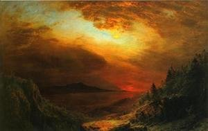 Frederic Edwin Church - Twilight Mount Desert Island, Maine