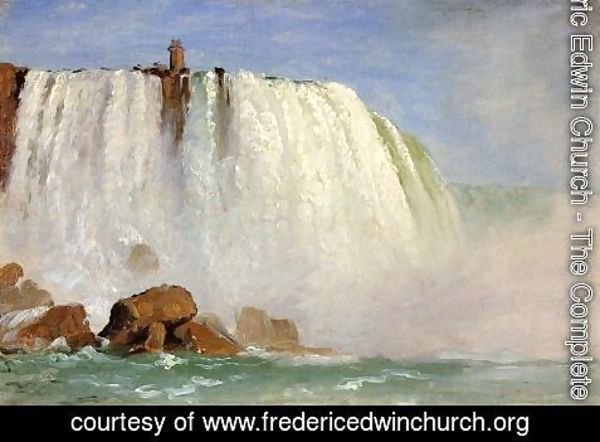 "Frederic Edwin Church - Study for ""Under Niagara"""