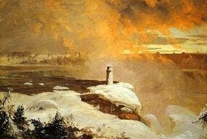 Frederic Edwin Church - Niagara Falls from Goat Island, Winter