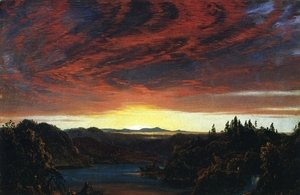 Frederic Edwin Church - Twilight, a Sketch