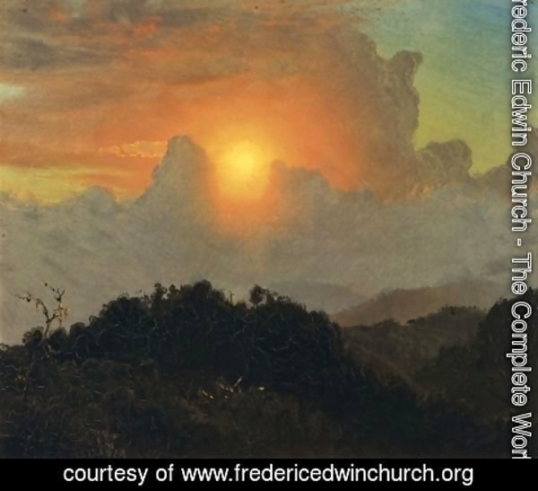 Frederic Edwin Church - Cloudy Skies, Sunset, Jamaica