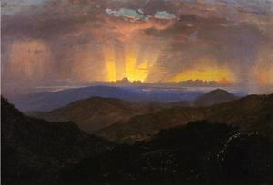 "Frederic Edwin Church - Sunset, Jamaica (study for ""The After Glow"""