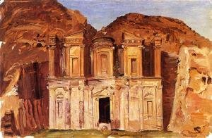 Frederic Edwin Church - View of Ed Deir, Petra, Jordan