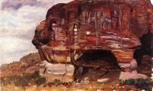 Frederic Edwin Church - Study of Zoomorphic Rock, Petra