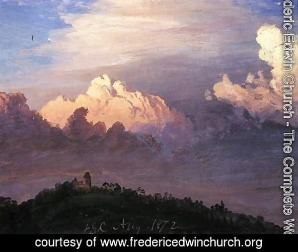 Frederic Edwin Church - Clouds over Olana