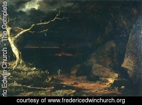"Frederic Edwin Church - Christian on the Borders of the ""Valley of the Shadow of Death,"" Pilgrim's Progress"