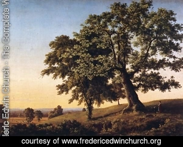 Frederic Edwin Church - The Charter Oak