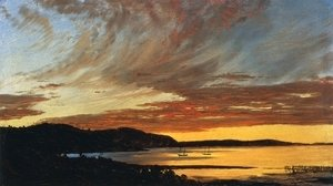 Frederic Edwin Church - Sunset, Bar Harbor