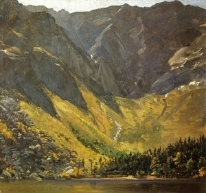 Frederic Edwin Church - Great Basin, Mount Katahdin, ,Maine