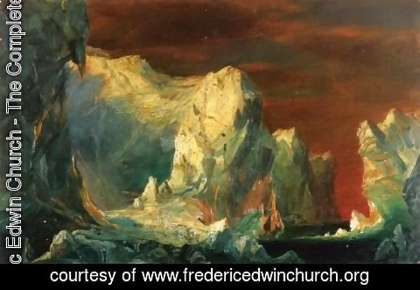 "Frederic Edwin Church - Study for ""The Icebergs"""
