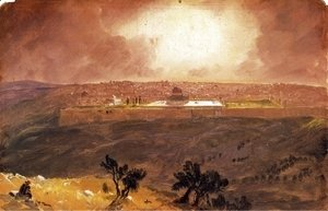 Frederic Edwin Church - Jerusalem from the Mount of Olives I