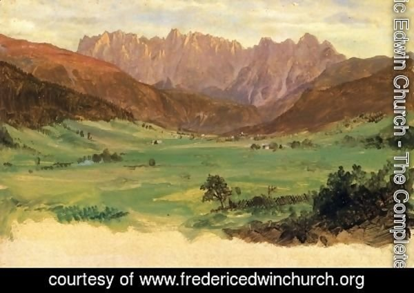 Frederic Edwin Church - Hinter Schonau and Reiteralp Mountains, Bavaria
