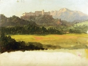 Frederic Edwin Church - Salzburg, Austria, View of the Castle
