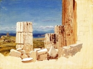 Frederic Edwin Church - Broken Columns, View from the Parthenon, Athens
