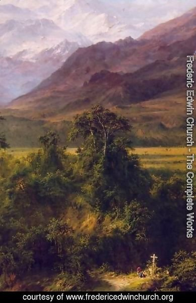 Frederic Edwin Church - Heart of the Andes (detail)