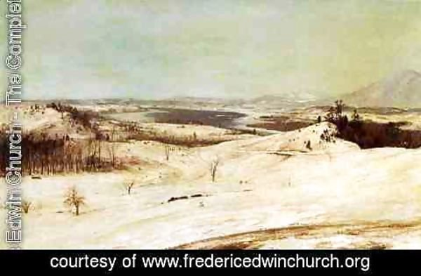 Frederic Edwin Church - View from Olana in the Snow 2
