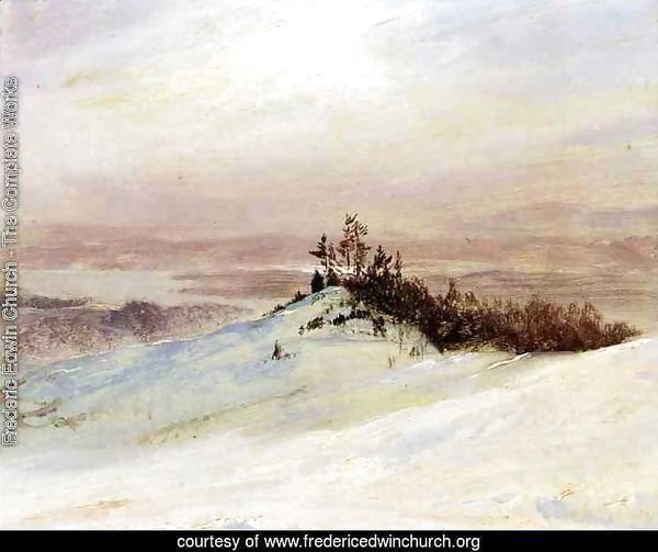 Winter on the Hudson River Near Catskill, New York