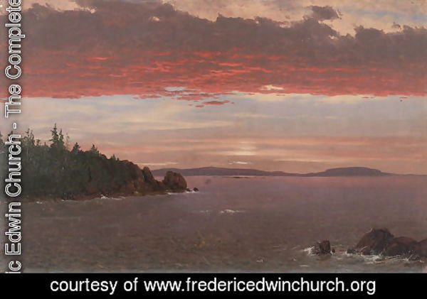 Frederic Edwin Church - Schoodic Peninsula from Mount Desert at Sunrise