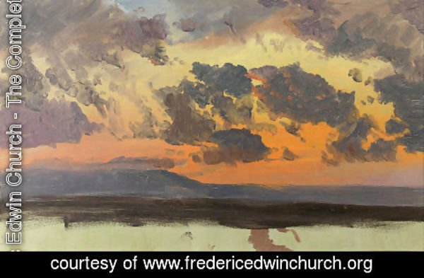 Frederic Edwin Church - Sky at sunset, Jamaica, West Indies