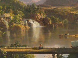 Frederic Edwin Church - New England Scenery (detail)