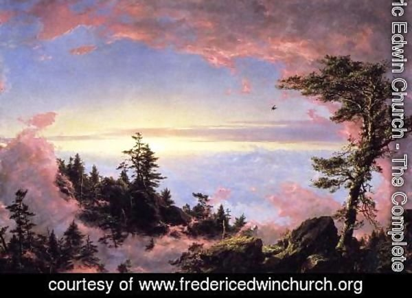 Frederic Edwin Church - Above The Clouds At Sunrise