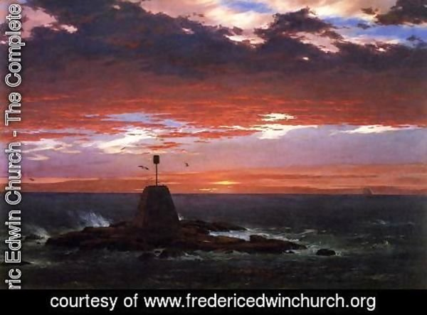 Frederic Edwin Church - Beacon  Off Mount Desert Island