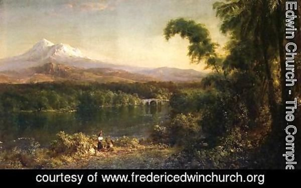 Frederic Edwin Church - Figures In An Ecuadorian Landscape