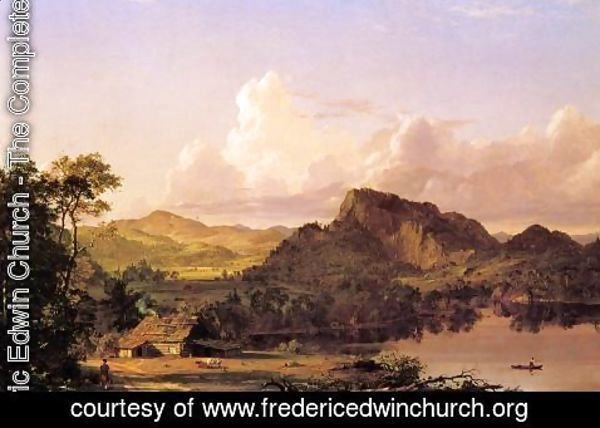 Frederic Edwin Church - Home By The Lake