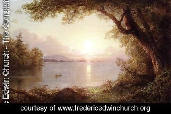 Frederic Edwin Church - Landscape In The Adirondacks