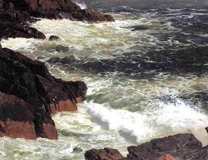 Frederic Edwin Church - Rough Surf  Mount Desert Island