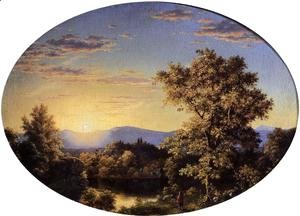 Frederic Edwin Church - Twilight Among The Mountains