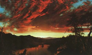Frederic Edwin Church - Secluded Landscape at Sunset, 1860