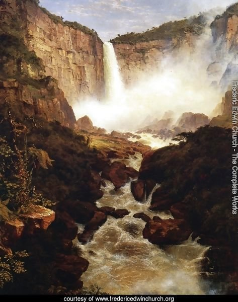 The Falls of Tequendama, 1854