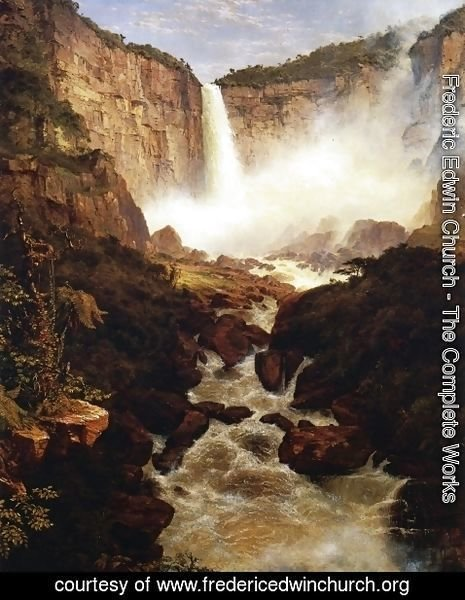 Frederic Edwin Church - The Falls of Tequendama, 1854